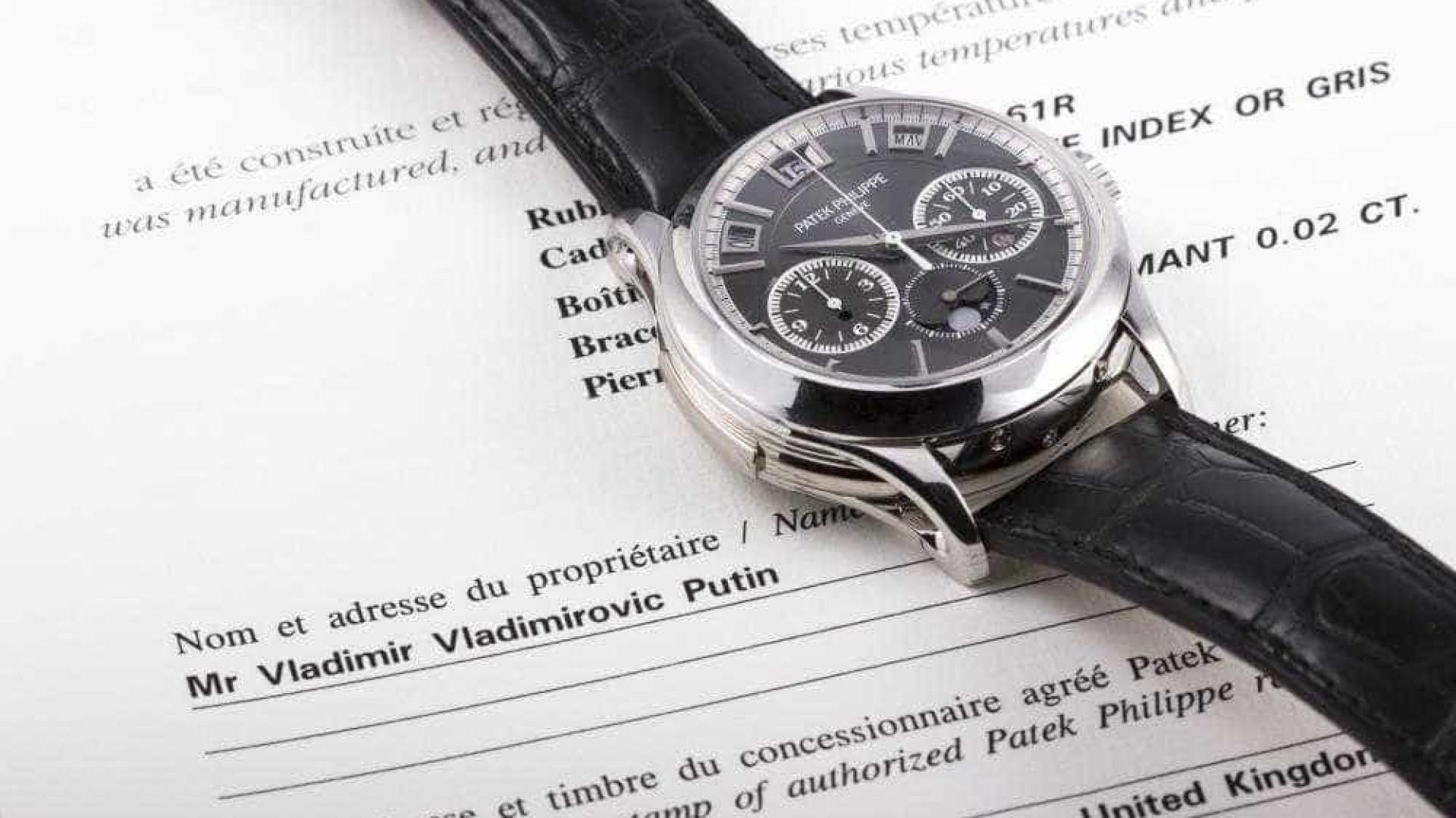 4075e79c59c Um dos mais caros relógios de Putin vai a leilão. Está interessado