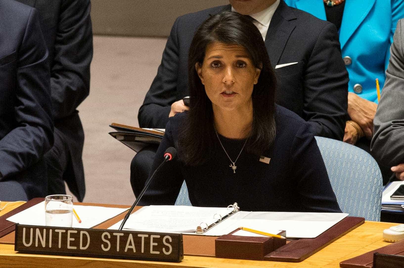 Embaixadora dos EUA nas Nações Unidas apresenta demissão