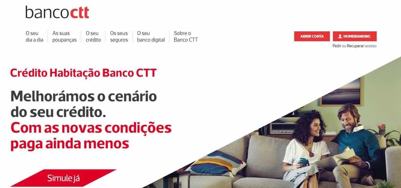 Banco CTT com perturbações na aplicação e serviço de 'home-banking'