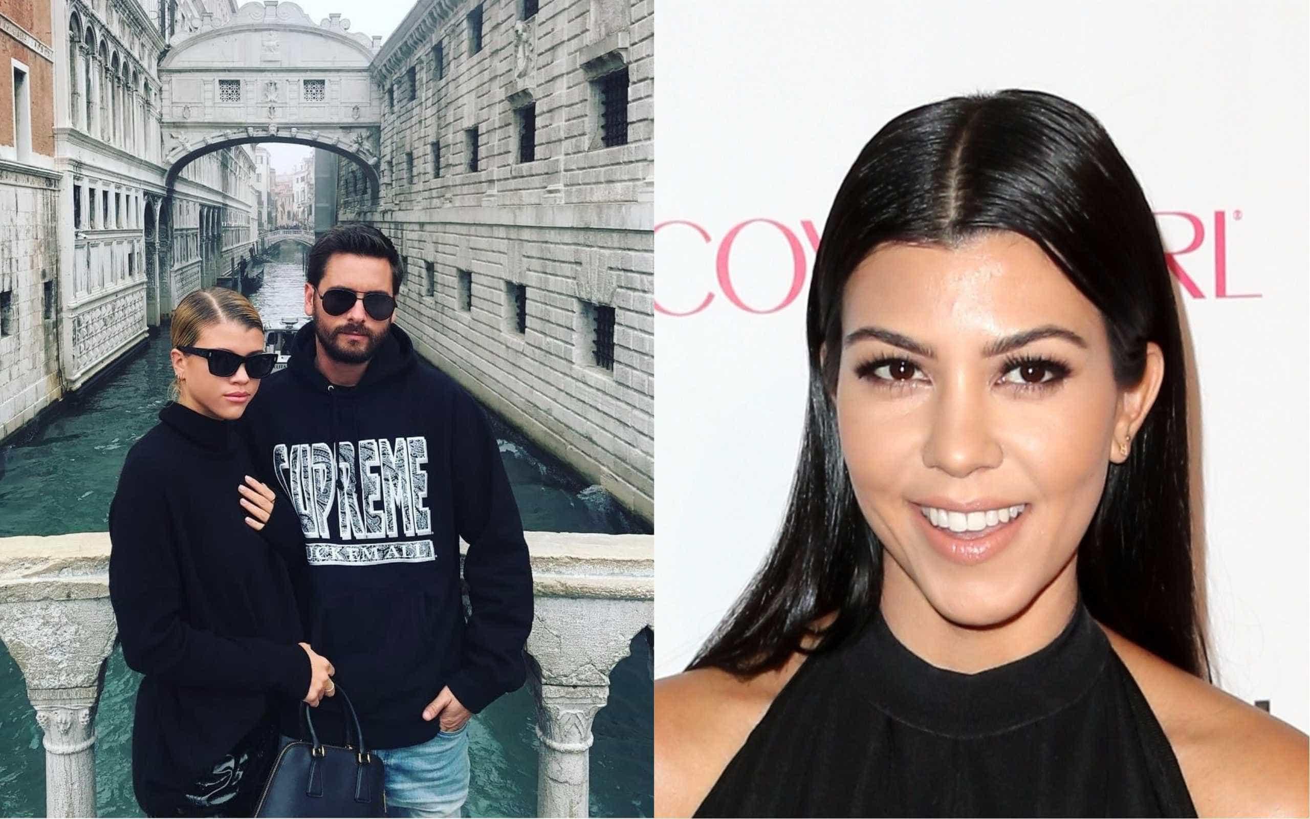 Scott Disick janta com Sofia Richie e ex-companheira, Kourtney Kardashian