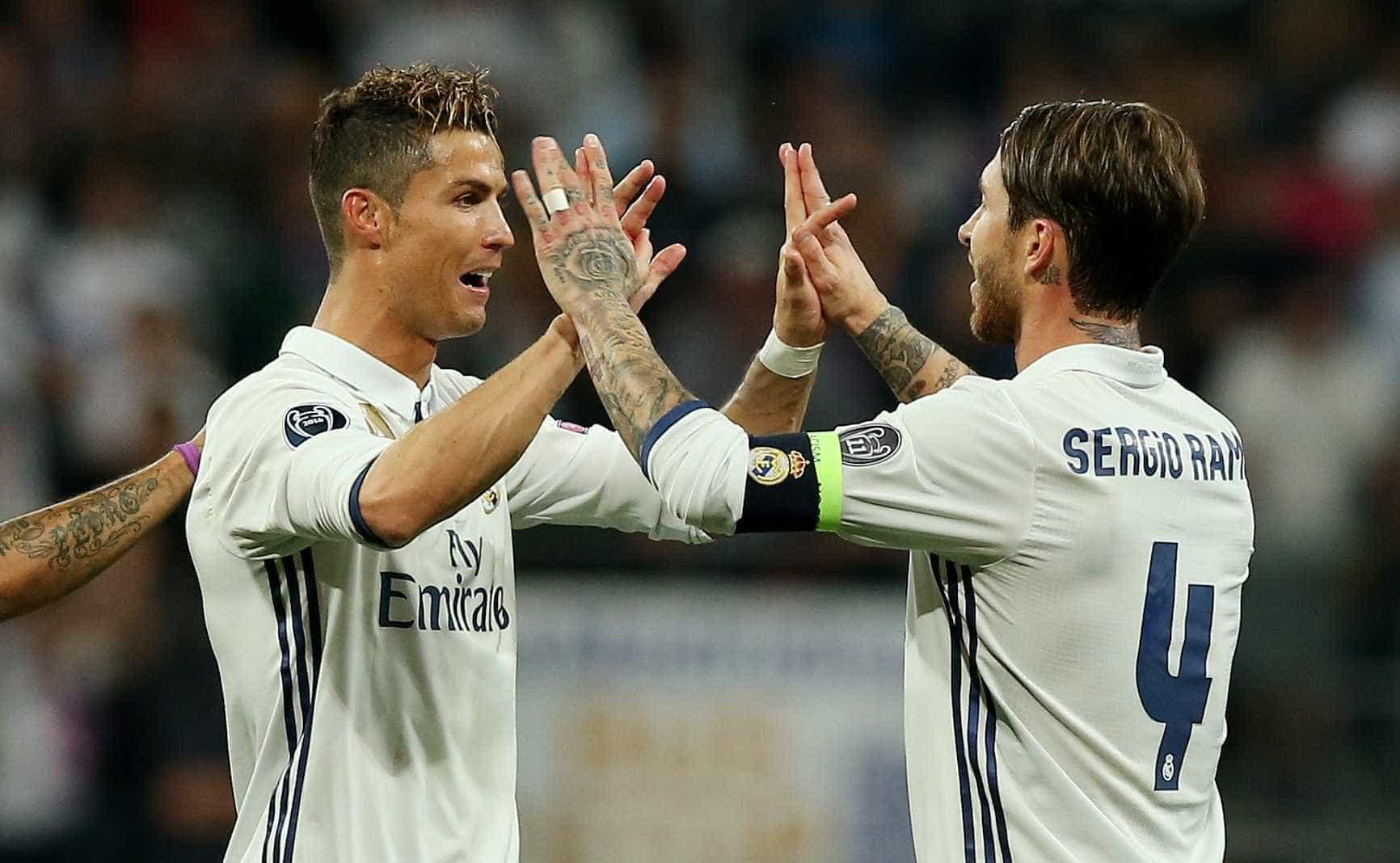 'Guerra' em Madrid pode provocar reencontro entre Ramos e CR7