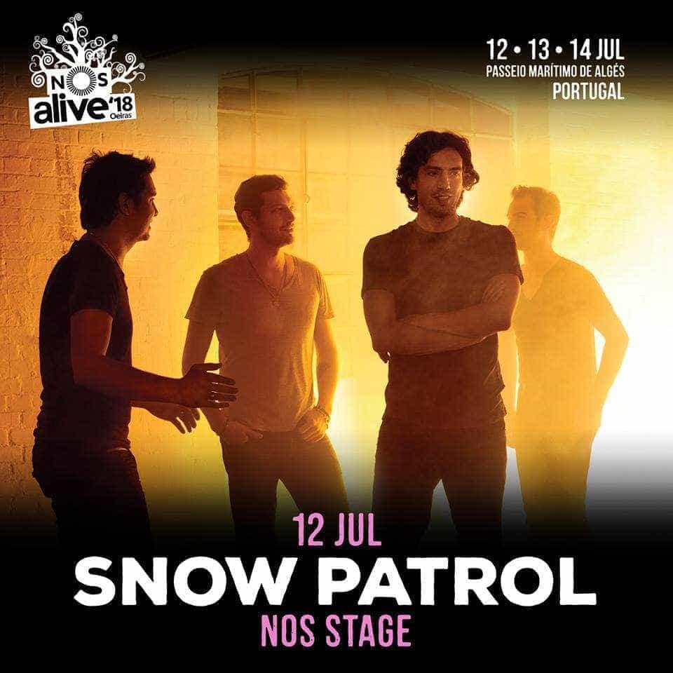 Snow Patrol regressam a Portugal no próximo ano