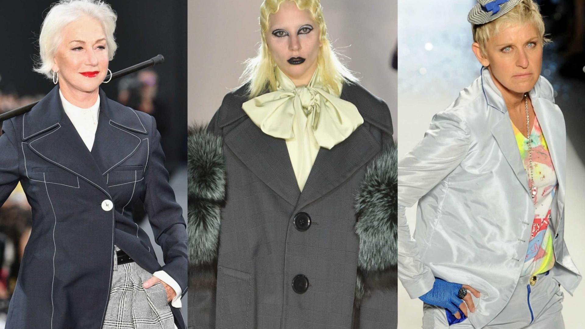 44aee783f Confira a galeria que se segue e veja quem foram os famosos que aceitaram o  desafio de experimentar o mundo da moda!