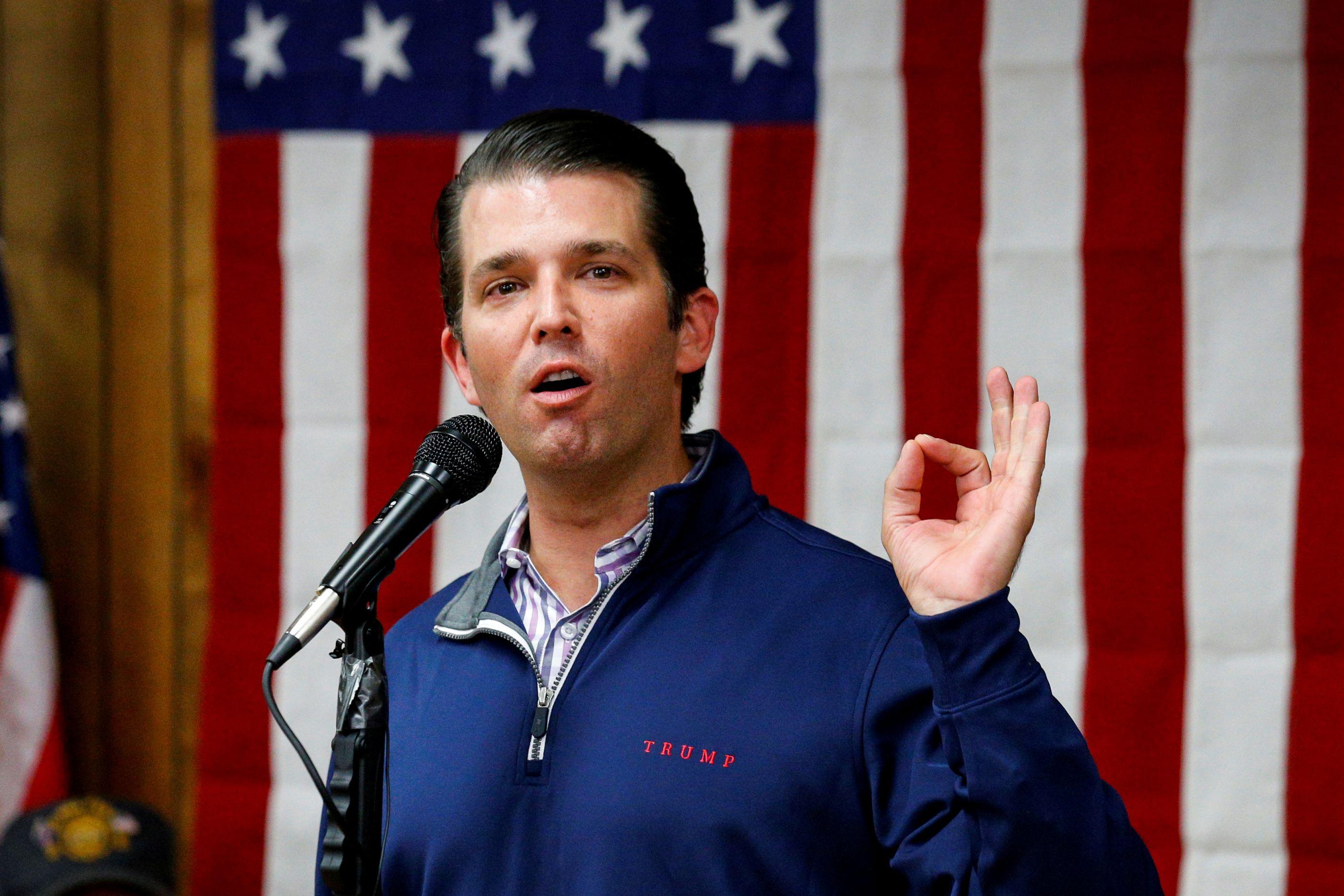 Filho de Trump não se lembra de discutir ingerência russa com o pai