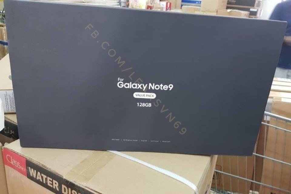 Um dos pacotes especiais do Galaxy Note 9 surgiu na internet