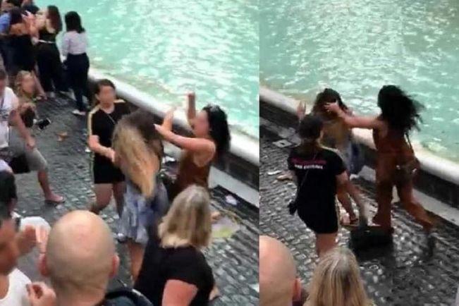 Busca pela selfie perfeita acaba em agressões na Fontana de Trevi
