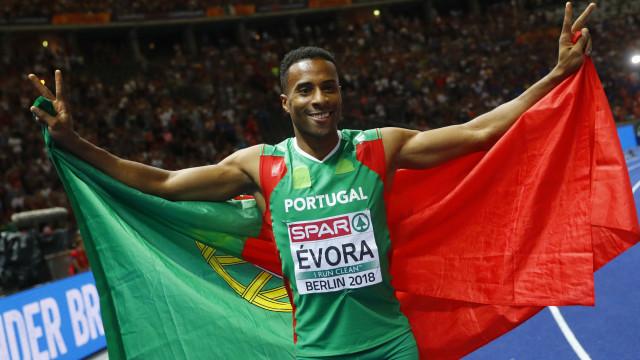 Nelson Évora na final do triplo-salto nos europeus de atletismo