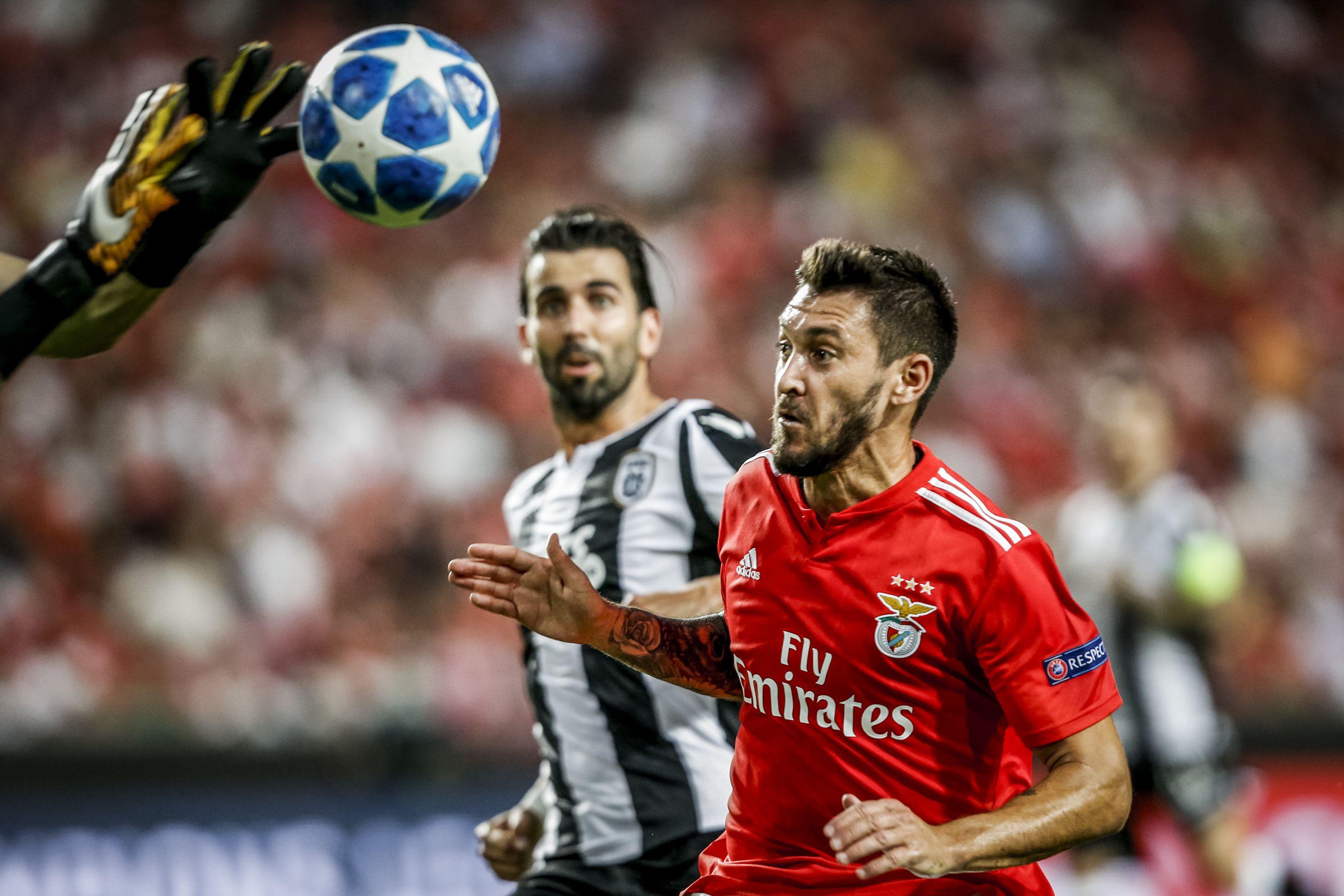 Emissário do Frosinone em Lisboa para levar trio do Benfica