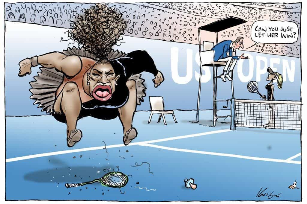 "Cartoon que retrata Serena Williams não é ""racista"", decide regulador"