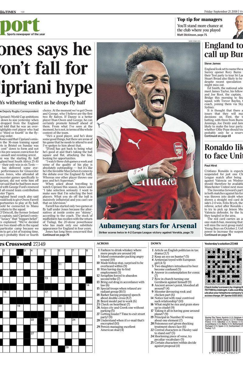 Imprensa internacional: Arsenal em festa e Barça como 'espião'