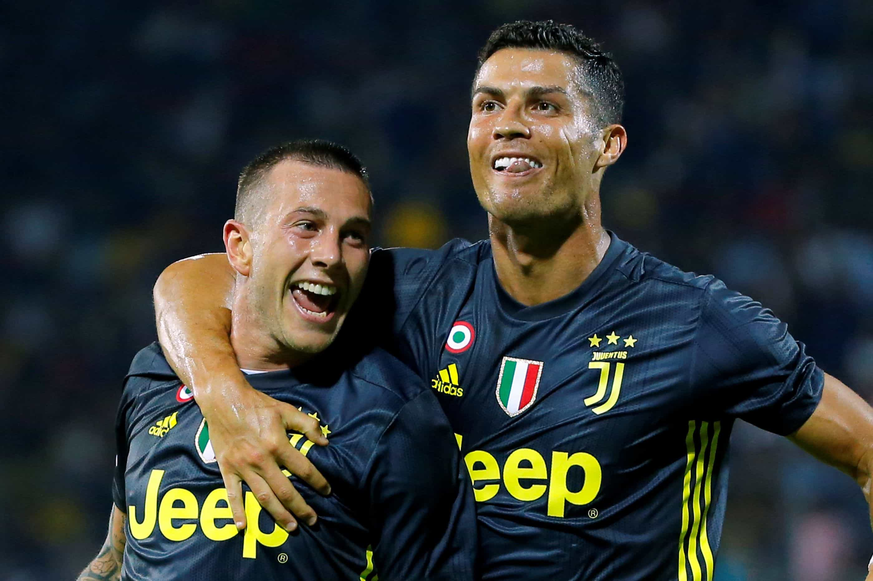 A reação de Cristiano Ronaldo após o triunfo da Juventus em Frosinone