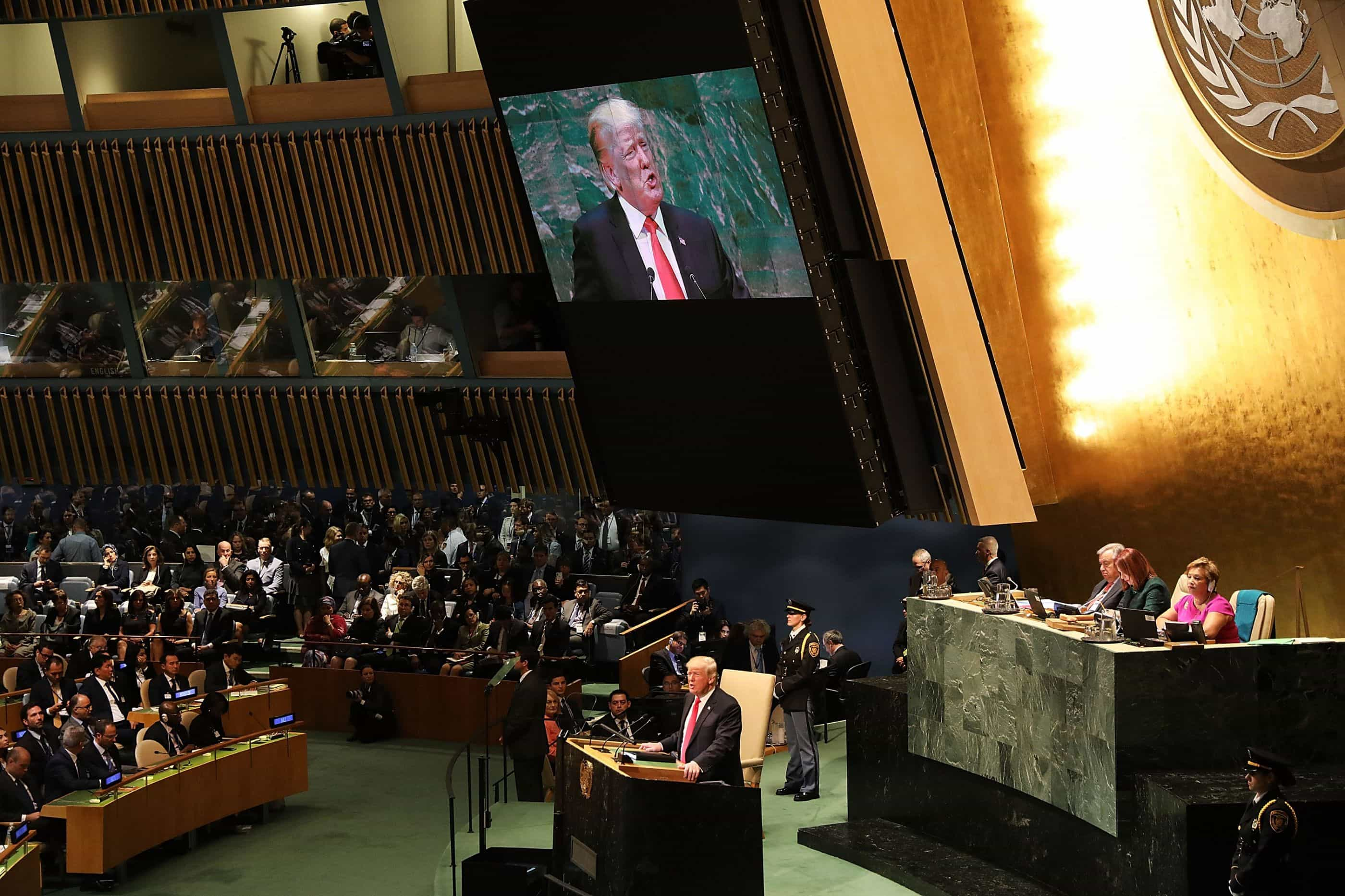Os dois momentos em que discurso de Trump gerou riso nas Nações Unidas