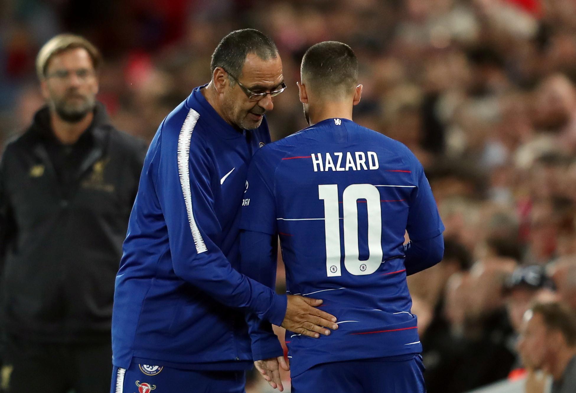Hazard está 'farto' de Sarri e quer sair para o Real Madrid