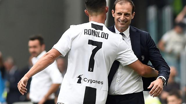 """Allegri não tem dúvidas: """"O Cristiano merece ganhar a Bola de Ouro"""""""