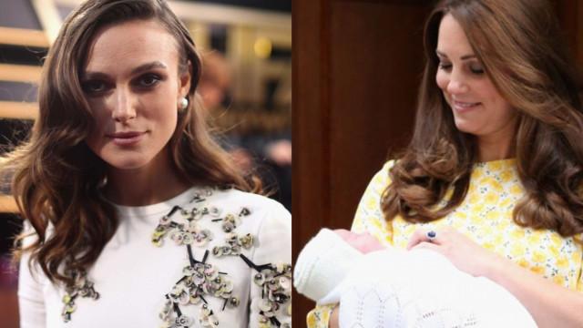 Keira Knightley 'arrasa' pós-parto de Kate Middleton
