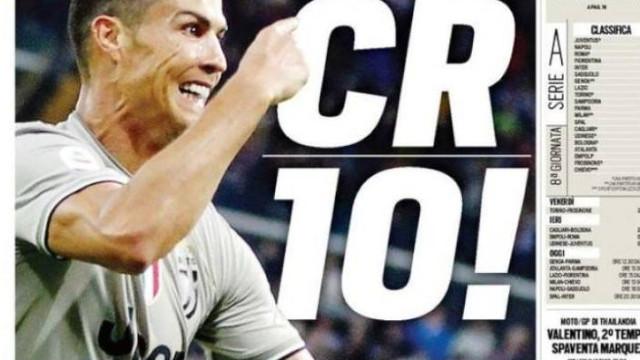 """Lá fora: """"CR10"""" brilha, Mourinho em """"raiva"""" e Real... """"ruina"""""""