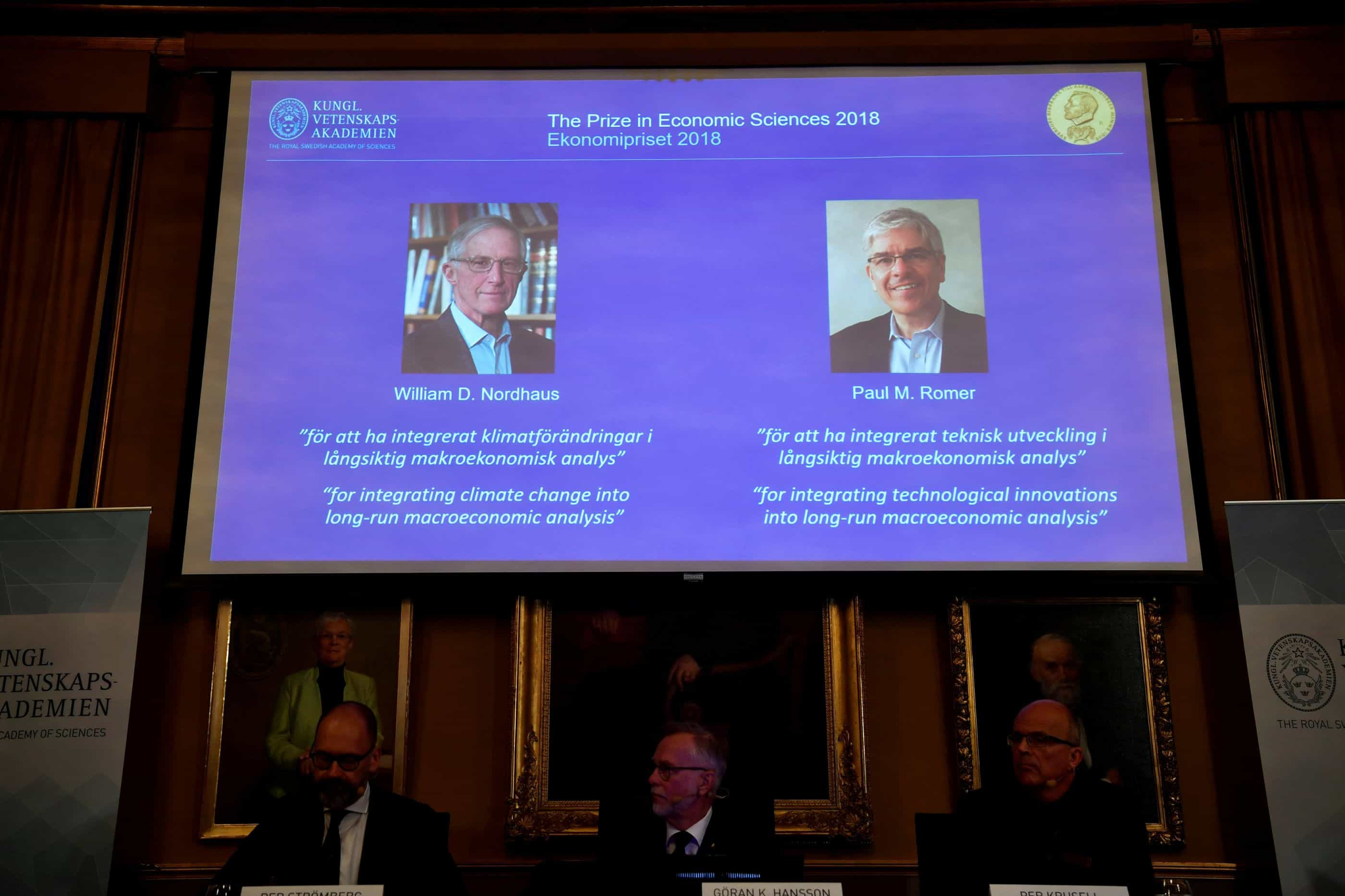 Vencedores do Nobel elogiados sobre impacto de decisões a longo prazo