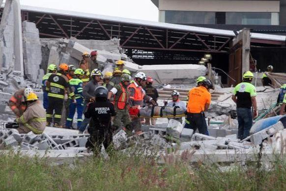 Centro comercial em construção no México abate e faz sete mortos