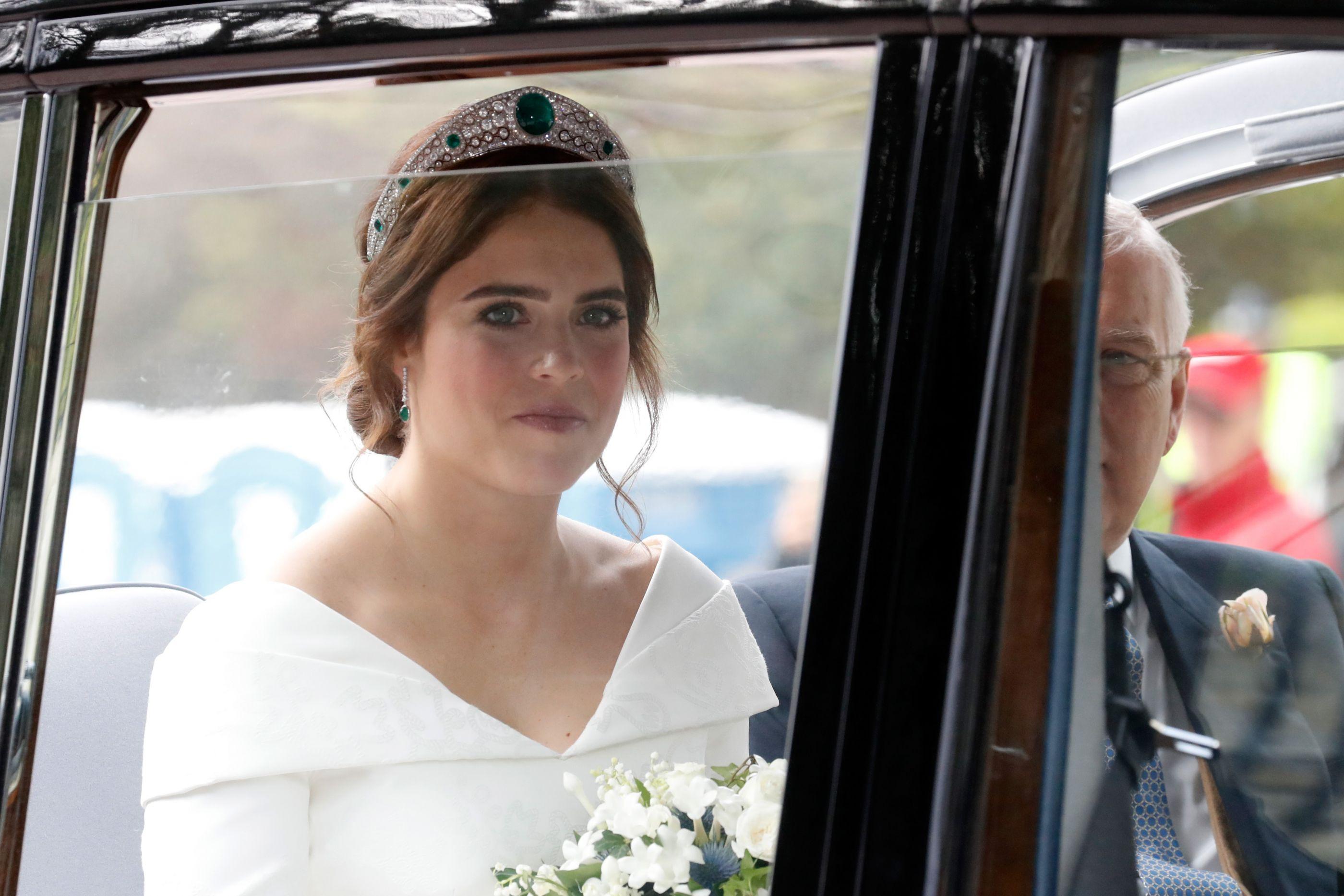 As primeiras imagens do vestido de noiva da princesa Eugenie