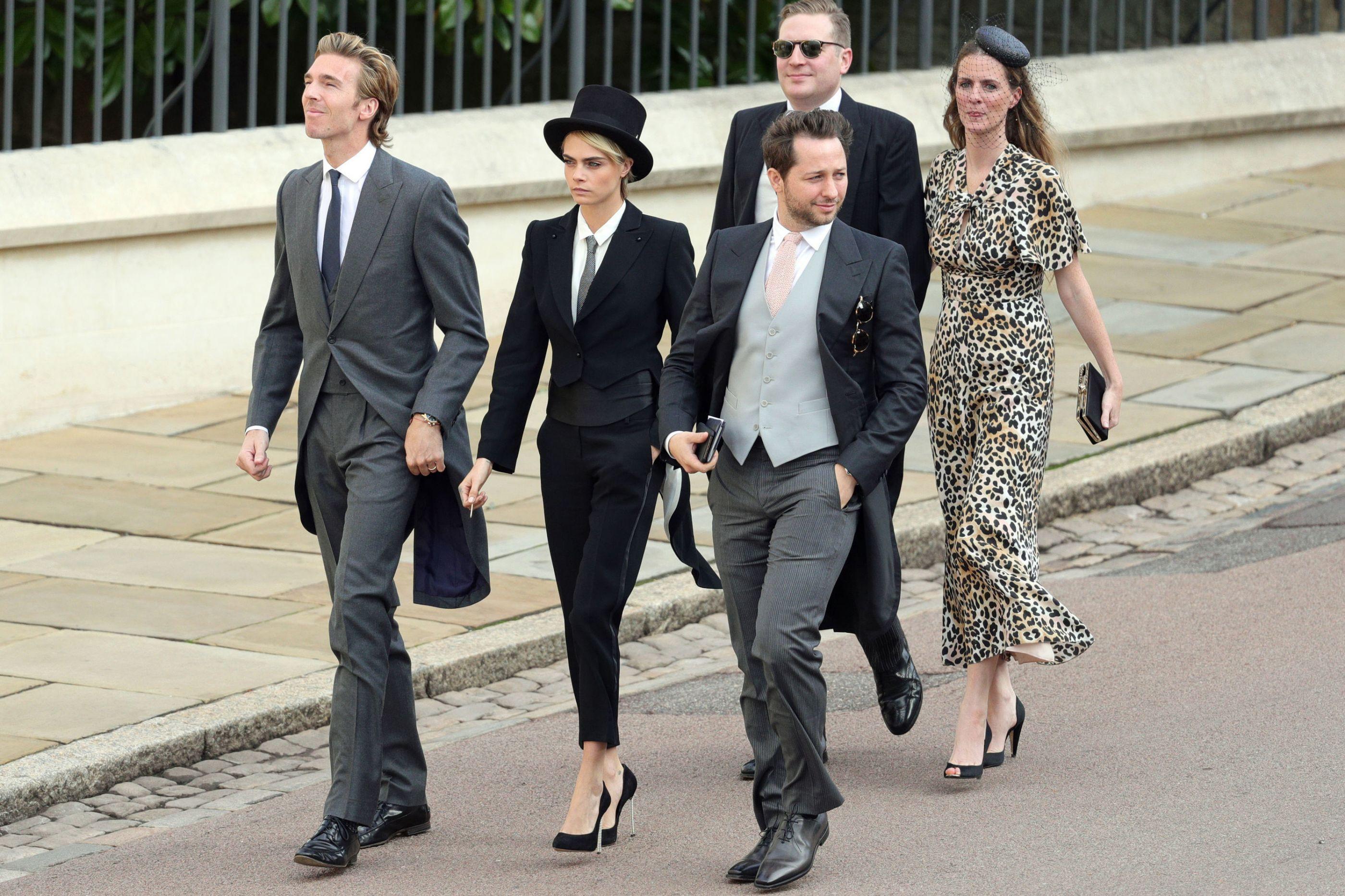 Cara Delevingne: O look mais improvável do casamento real