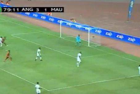 Gelson Dala marca pela seleção angolana frente à Mauritânia
