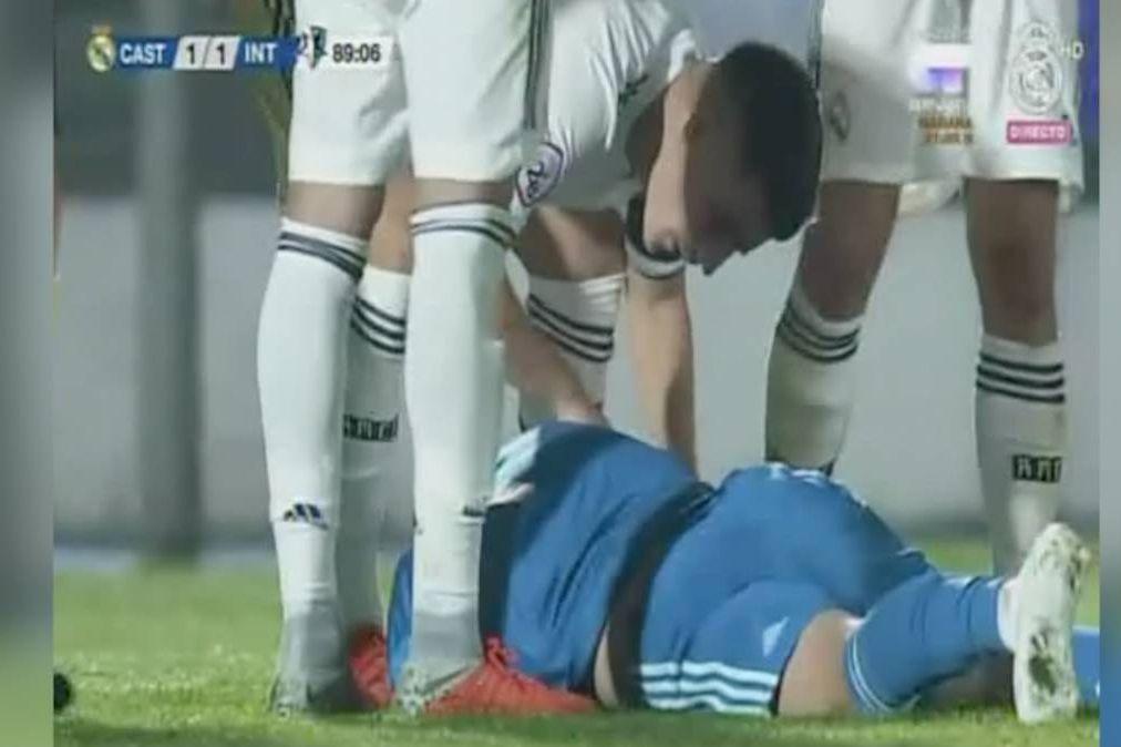 Enorme susto: Filho de Zidane caiu e bateu com a cabeça no relvado