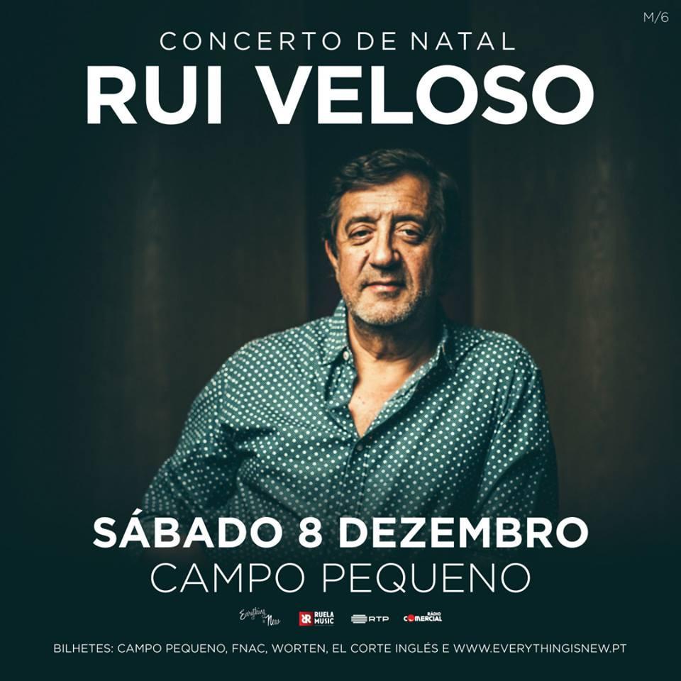 Rui Veloso dá concerto de Natal no Campo Pequeno