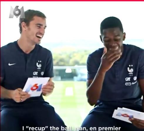 Griezmann e Dembélé imitam selecionador e companheiros em vídeo divertido