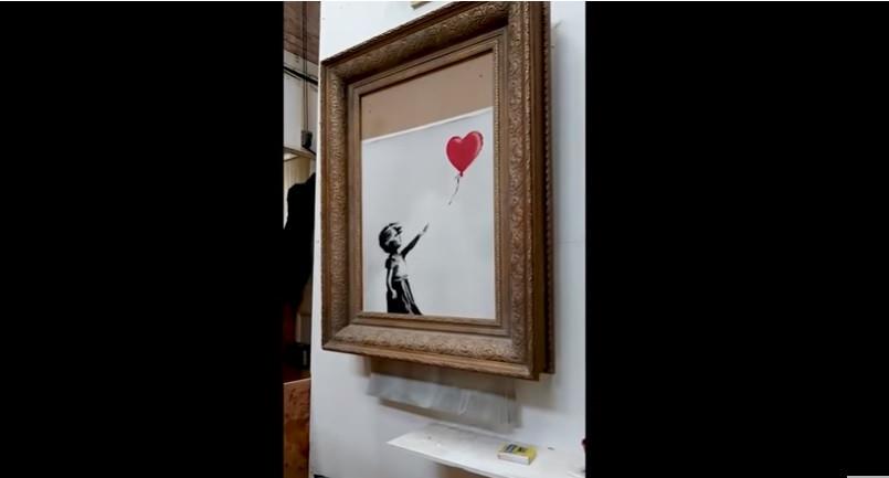 Afinal, destruição de quadro não correu como Banksy esperava