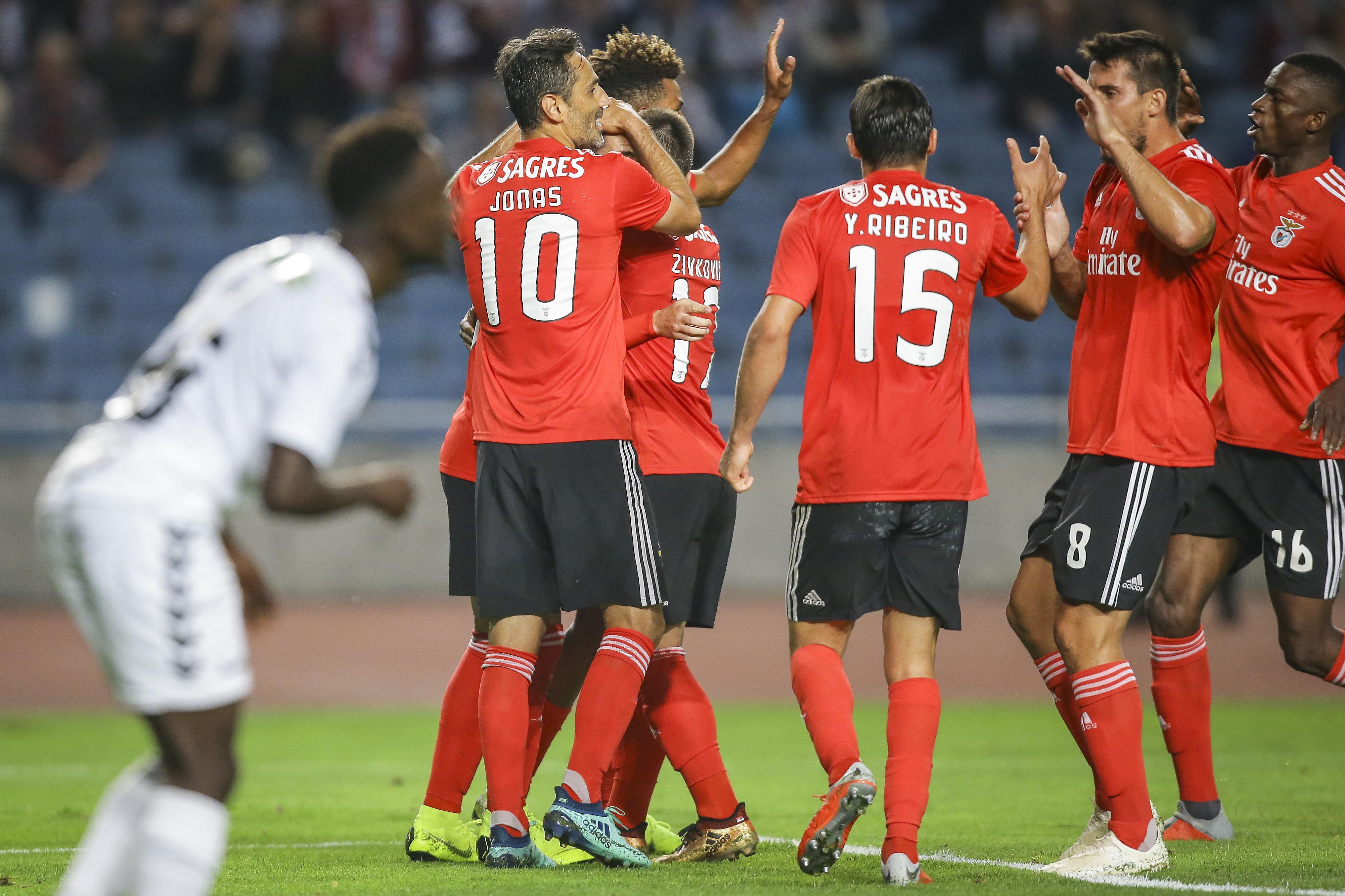 'Golias' não teve dificuldades. Benfica vence e segue em frente na Taça