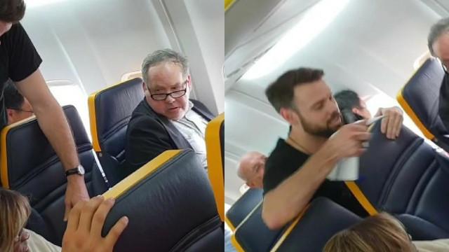 Homem que insultou idosa em voo da Ryanair foi identificado pela polícia