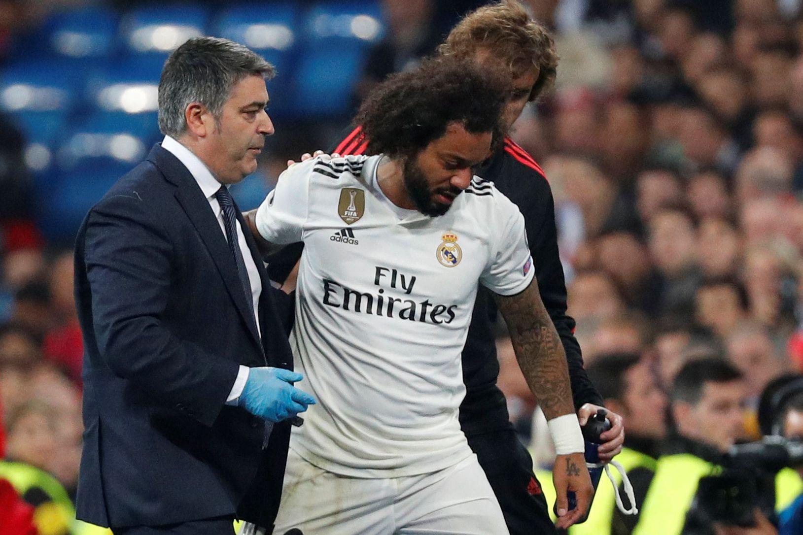 Alarmes no Real Madrid. Marcelo deixa relvado em lágrimas