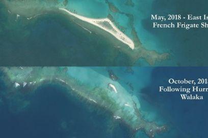 Ilha do Hawaii desapareceu depois da passagem de furacão