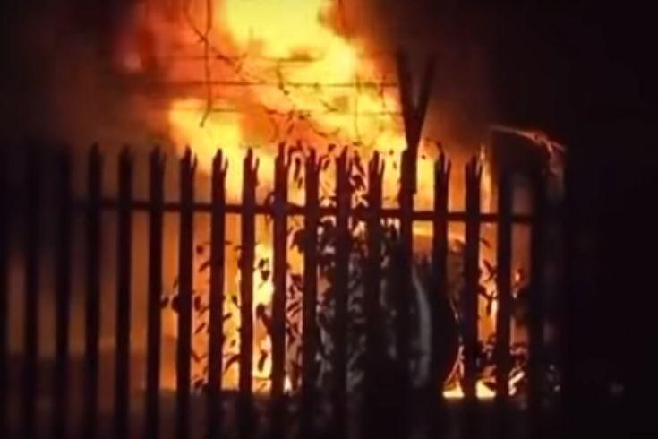 As imagens do helicóptero do presidente do Leicester em chamas