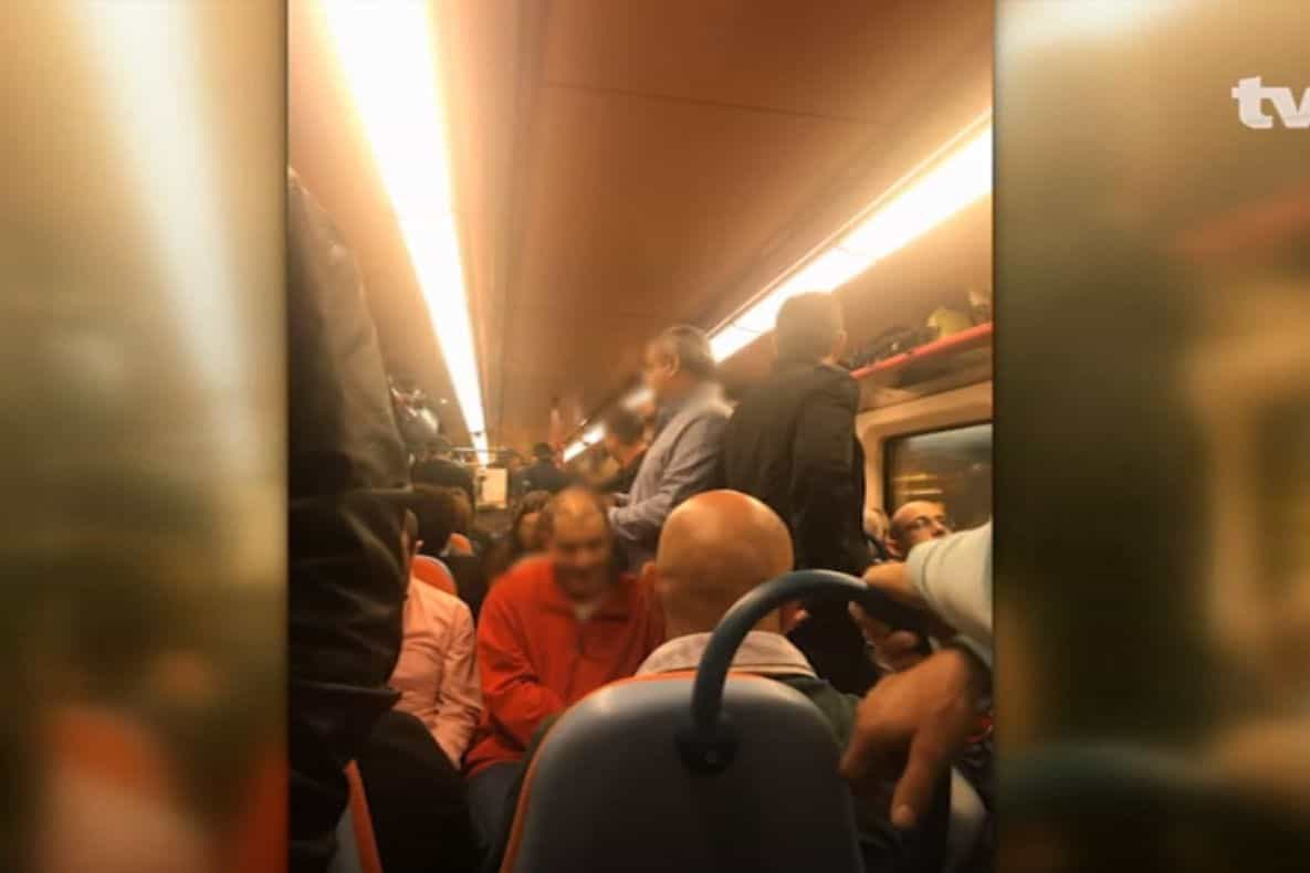 "Comboios da CP circulam lotados. ""Nem dá para sentar no chão"""