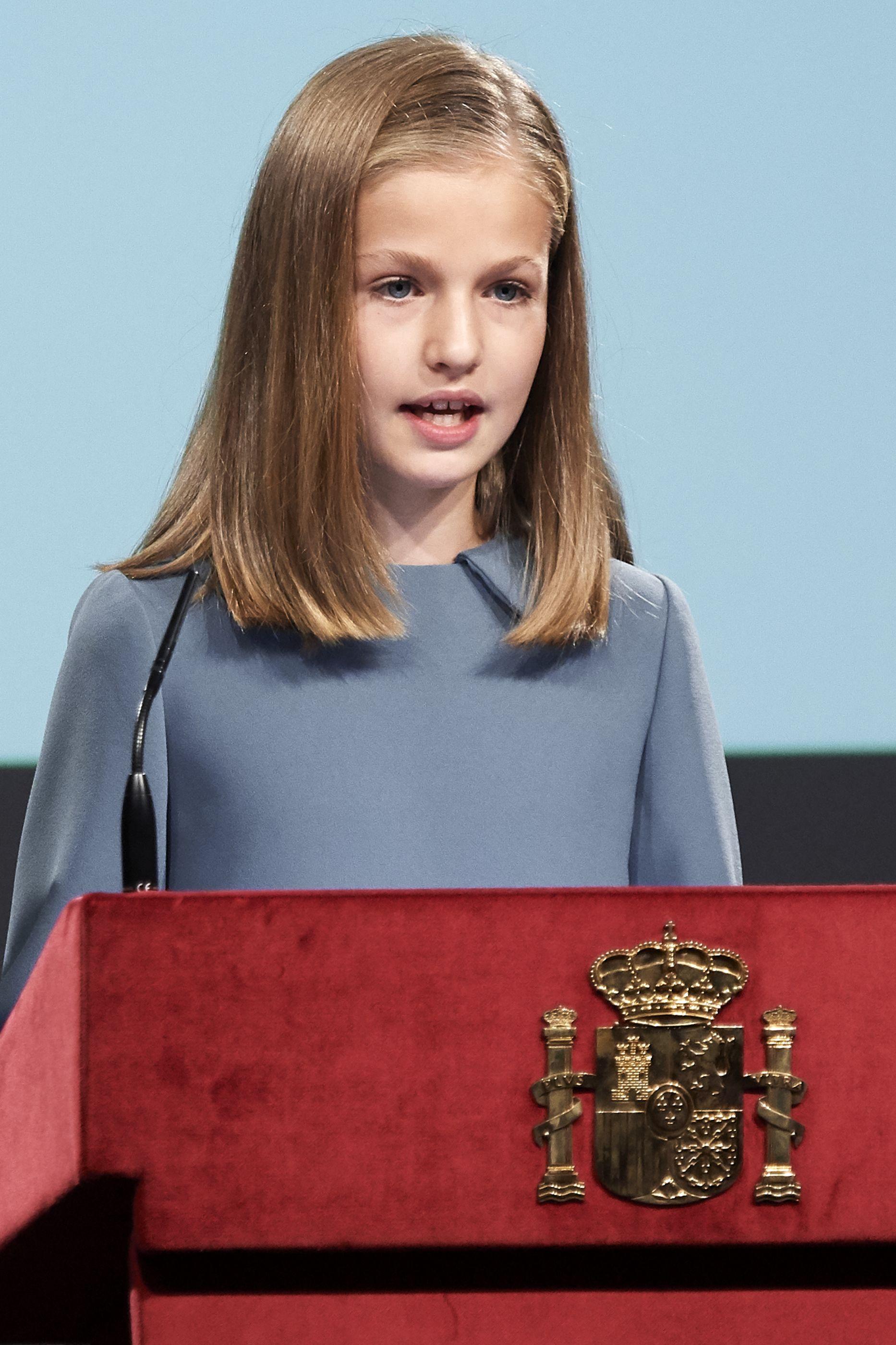 Eis as primeiras palavras públicas da princesa Leonor num ato oficial