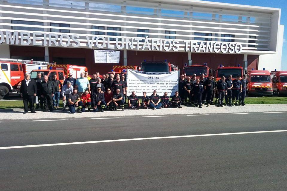 Emigrante angaria 14 viaturas para doar aos bombeiros de Trancoso