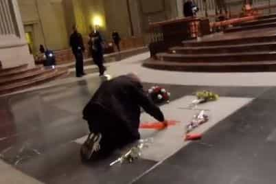 Homem detido por pintar sepultura de ditador espanhol Franco