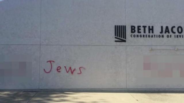 Sinagoga vandalizada apenas alguns dias após ataque em Pittsburgh