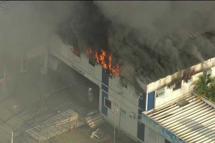 Deflagra incêndio em hospital municipal do Rio de Janeiro