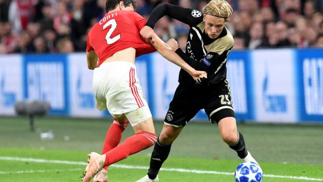 Ajax 'aquece' duelo com o Benfica com pequena provocação
