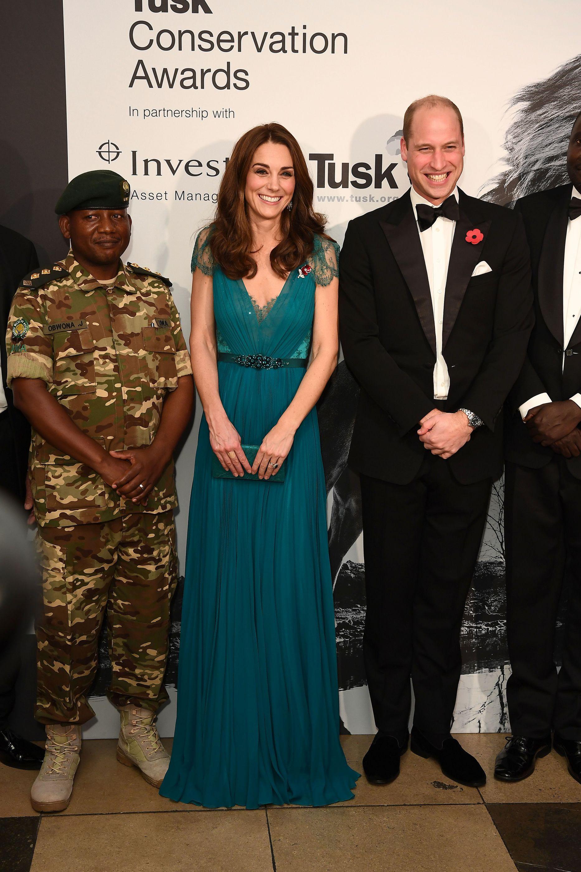 Kate Middleton repetiu vestido de gala (mas encantou na mesma)