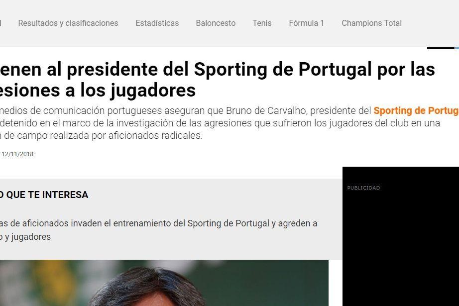 Bruno de Carvalho põe o nome do Sporting lá fora... pelas piores razões