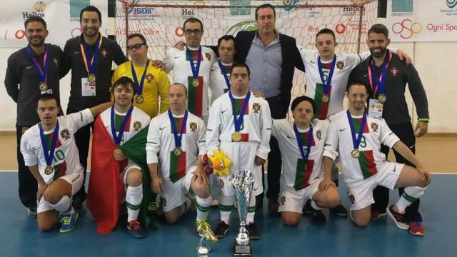 Portugal é campeão europeu de futsal para atletas com síndrome de Down
