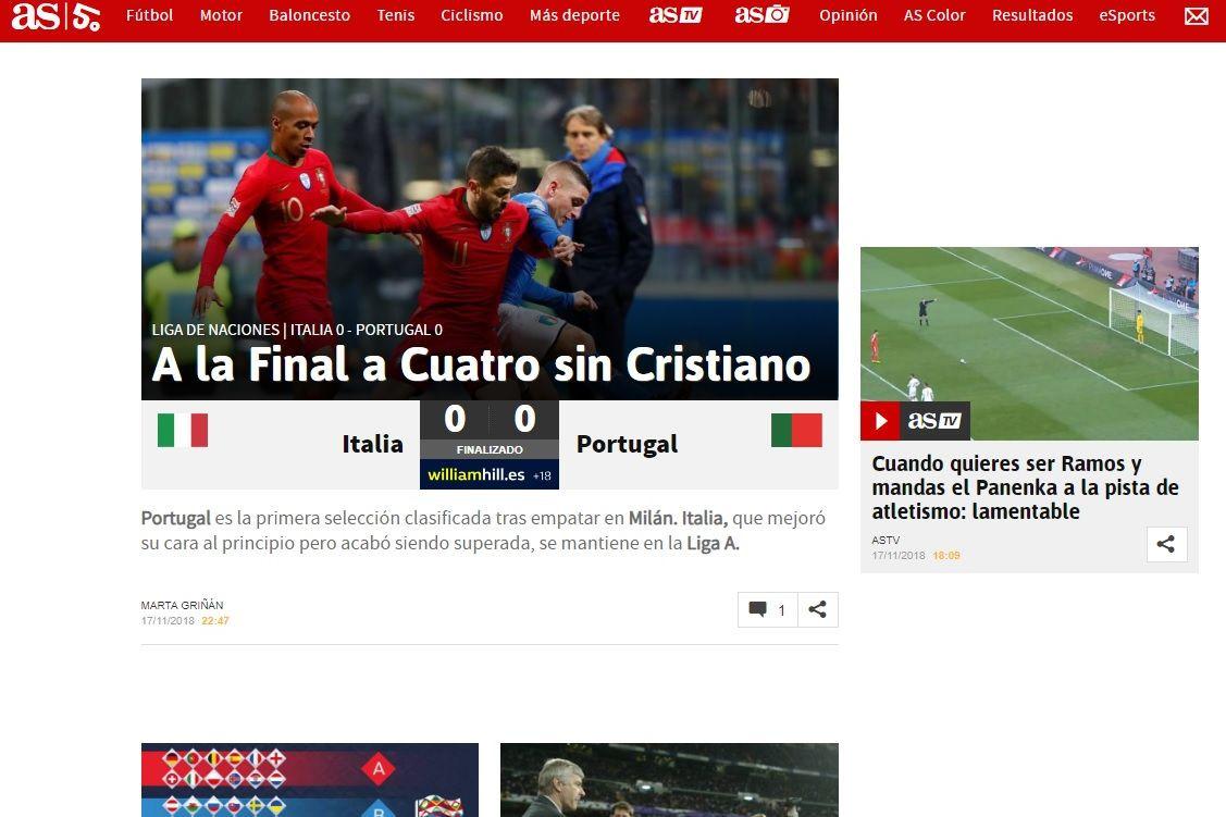 Tudo o que disse a imprensa internacional da qualificação de Portugal