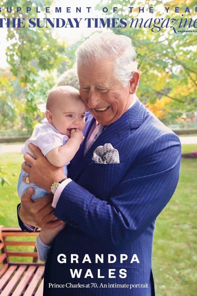 Os momentos ternurentos entre o príncipe Carlos e o neto mais novo