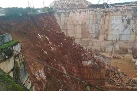 Buscas em Borba ainda não começaram, continua a haver aluimento de terras