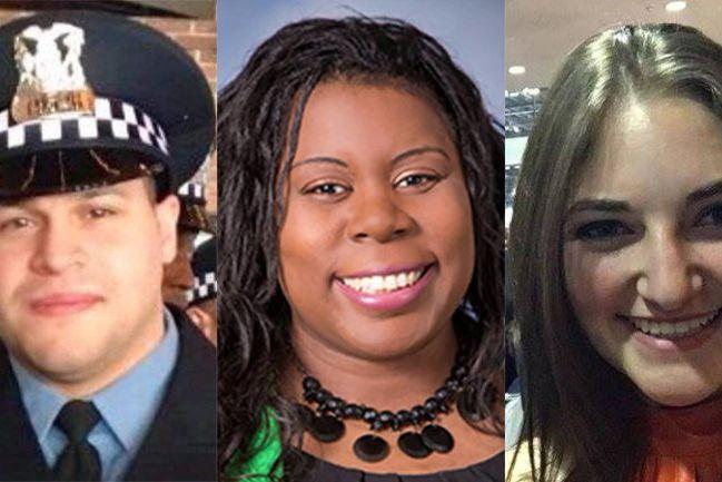 Um polícia, uma médica, uma farmacêutica. Vítimas do tiroteio em Chicago