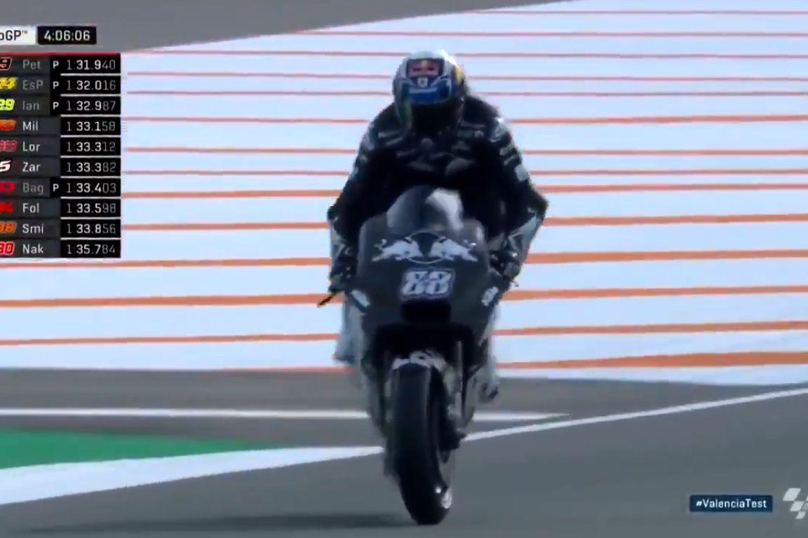 Ao segundo dia, o primeiro susto de Miguel Oliveira no MotoGP