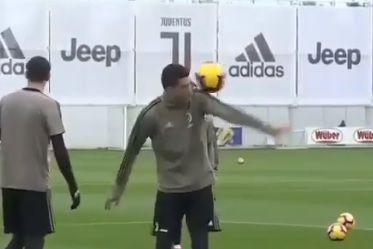 O malabarismo de Ronaldo que deixou os colegas de 'olhos em bico'
